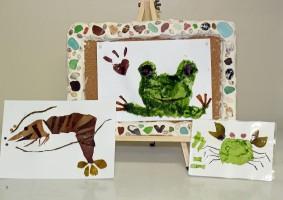 君もアイデアで画伯になれる!海藻を使ってオリジナルアートを作ろう!